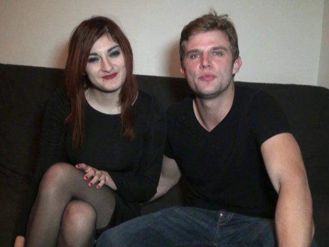 Ce jeune couple amateur passent un premier casting X